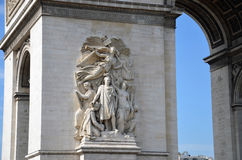 Arc de triomphe in  Paris. France Stock Photography