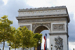 Arc de Triomphe Paris France Stock Image