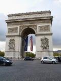 Arc de Triomphe Paris France. The historic landmark arch structure, Arc de; Triomphe, in Paris, France Stock Photography