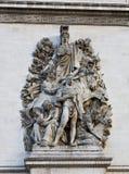 Arc de Triomphe Paris France. The historic landmark arch structure, Arc de; Triomphe, in Paris, France Stock Image