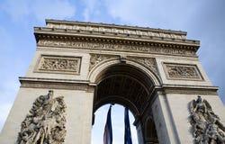 Arc de Triomphe Paris France. The historic landmark arch structure, Arc de Triomphe, in Paris, France Stock Photos