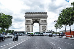 Arc de Triomphe. In Paris France Royalty Free Stock Photo