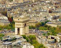 Arc de Triomphe in Paris, France Stock Images