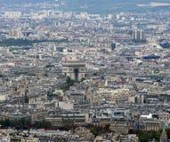 Arc de Triomphe in Paris, France. Aerial view Stock Images