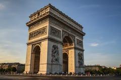 Arc de Triomphe, Paris, France. Arch of Triumph is one of the most famous monuments in Paris Stock Images