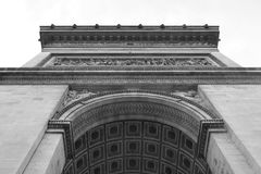 Arc de Triomphe in Paris. Arc de Triomphe in Paris, France. Black and white Royalty Free Stock Images