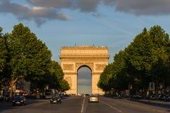 The Arc de Triomphe in Paris, France Royalty Free Stock Photos