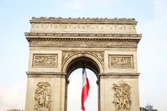 Arc de Triomphe in Paris, France. Arc de Triomphe in Paris City, France Stock Image