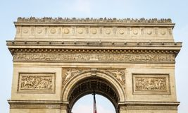 Arc de Triomphe in Paris, France. Arc de Triomphe in Paris City, France Royalty Free Stock Images