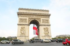 Arc de Triomphe in Paris, France. Arc de Triomphe in Paris City, France Stock Photos