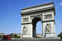 Arc de Triomphe, Paris, France. Arc de Triomphe, Paris, France, City Landmark, foreign country Stock Image
