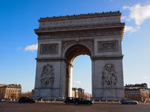 Arc de Triomphe, Paris. PARIS, France - December 2011 : The arch was commissioned by Napoleon in 1806 as a tribute to the French army. Located in the centre of Stock Image