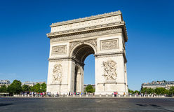 Arc de Triomphe – Paris, France. Early morning at the Arc de Triomphe Stock Image