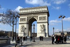 Arc de Triomphe in Paris, France Europe. Famous monument in Paris which stands in the centre of the Place Charles de Gualle Stock Image