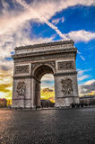 Arc de Triomphe - Paris, France. The famous Arc de Triomphe at sunset - Paris, France Royalty Free Stock Photo