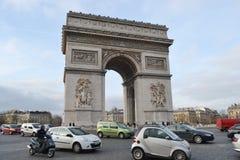 Arc de Triomphe, Paris. PARIS, FRANCE - JANUARY 7, 2013: Arc de Triomphe in Paris Stock Photos