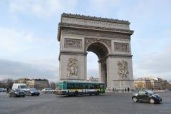 Arc de Triomphe, Paris. PARIS, FRANCE - JANUARY 7, 2013: Arc de Triomphe in Paris Royalty Free Stock Images