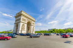 Arc de Triomphe, Paris, France. PARIS, FRANCE- JUNE 1, 2015: Arc de Triomphe de l'Etoile, Triumphal Arc of the Star Royalty Free Stock Photos