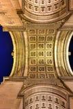 Arc de Triomphe - Paris, France. The Arc de Triomphe de l& x27;Etoile, & x28;Triumphal Arch of the Star& x29; is one of the most famous monuments in Paris Royalty Free Stock Photo