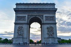 Arc de Triomphe - Paris, France. The Arc de Triomphe de l& x27;Etoile, & x28;Triumphal Arch of the Star& x29; is one of the most famous monuments in Paris Stock Photo
