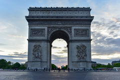 Arc de Triomphe - Paris, France. The Arc de Triomphe de l& x27;Etoile, & x28;Triumphal Arch of the Star& x29; is one of the most famous monuments in Paris Royalty Free Stock Photography