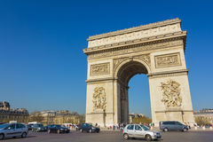 Arc de triomphe - Paris - France. A landmark of Paris, France Royalty Free Stock Photos