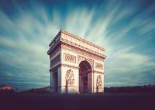 Arc de Triomphe, Paris, France. Long exposure photography Stock Photos
