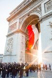 The Arc de Triomphe stock image