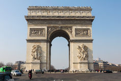 Arc de Triomphe. PARIS, FRANCE - MARCH 5, 2011: Arc de Triomphe at the Champs Elysees in Paris, France Stock Photos