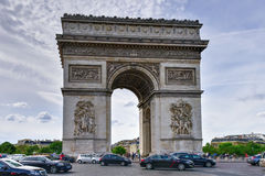 Arc de Triomphe - Paris, France. Paris, France - May 17, 2017: The Arc de Triomphe de l& x27;Etoile, & x28;Triumphal Arch of the Star& x29; is one of the most Royalty Free Stock Images