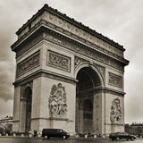 Arc de Triomphe in Paris, France. PARIS, FRANCE- MAY 16: The Arc de Triomphe on May 18, 2013. Located in the center of the Place Charles de Gaulle and inspired Royalty Free Stock Image
