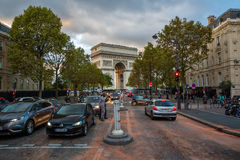 Arc de Triomphe in Paris, France Stock Image