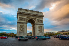 Arc de Triomphe in Paris, France Royalty Free Stock Images