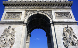 Arc De Triomphe, Paris, France Stock Images