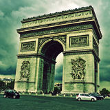 Arc de Triomphe in Paris, France. Picture of the Arc de Triomphe, in Paris, France, with a retro effect Royalty Free Stock Photography
