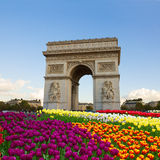 Arc de triomphe, Paris, France. Arc de triomphe at spring day, Paris, France Royalty Free Stock Photo