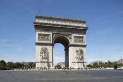 The arc de triomphe in paris, france. On a sunny day Royalty Free Stock Image
