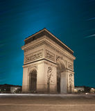 Arc De Triomphe, Paris. France at Sunset Stock Photos
