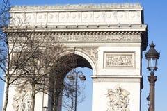 Arc de Triomphe, Paris, France. Arc de Triomphe in Paris, France. The top of the monument Royalty Free Stock Images