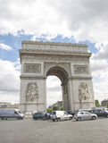Arc de Triomphe, Paris, France. The Arc de Triomphe,  busy road on  the  Champs-Elysees in Paris, France Stock Photo