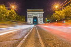 Arc de triomphe in Paris France. Travel and architecture background Stock Images