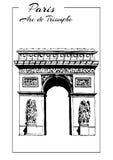 Arc de Triomphe, Paris, France. triumphal arch, sketch vector illustration Stock Image