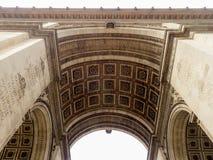 Arc de Triomphe, Paris, France. View of the Arc de Triomphe, Paris, France Royalty Free Stock Photo