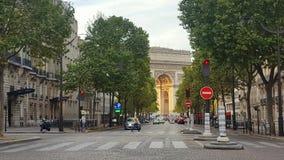 The arc de triomphe, Paris, France Stock Image