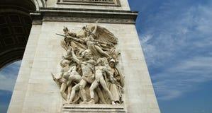 Arc de Triomphe Paris, Frankrike Arkivfoto