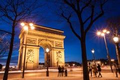 Arc de Triomphe Paris, Frankrike Royaltyfri Bild