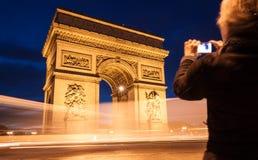 Arc de Triomphe Paris, Frankrike Royaltyfri Fotografi