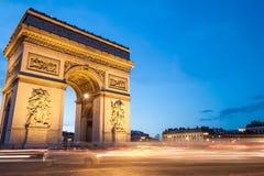 Arc de Triomphe Paris, Frankrike Fotografering för Bildbyråer
