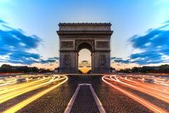 Arc de Triomphe Paris, Frankrike Arkivbilder