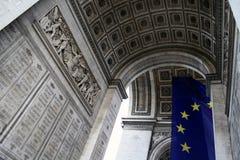 Arc de Triomphe - Paris - Frankrike Royaltyfri Bild